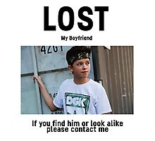 Lost Boyfriend: Jacob Sartorius (White Version) Photographic Print
