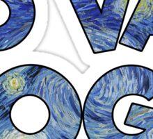 Go Van Gogh Wordplay Funny Cute Cheesy Sticker