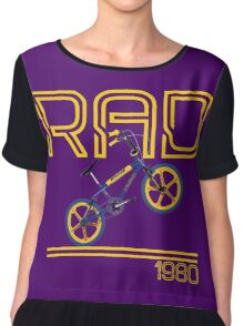 Retro 80's BMX Bike Men's T-shirt  Chiffon Top