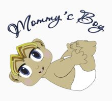 Mommy's Boy Blonde and Blue Eyes Kids Tee