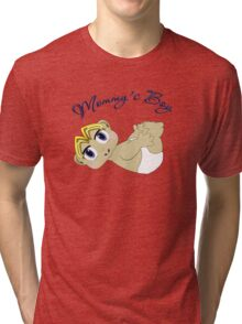 Mommy's Boy Blonde and Blue Eyes Tri-blend T-Shirt
