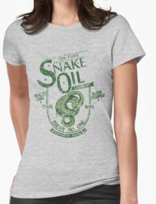 Trust No One... Snake Oil! Womens Fitted T-Shirt