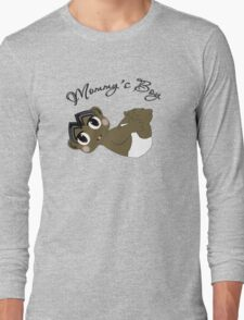 Mommy's Boy Black Hair and Brown Eyes Long Sleeve T-Shirt