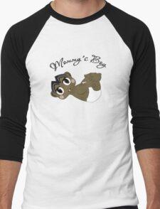 Mommy's Boy Black Hair and Brown Eyes Men's Baseball ¾ T-Shirt
