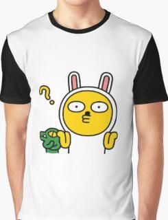 KakaoTalk Muzi and Con Character (Shrug) Graphic T-Shirt
