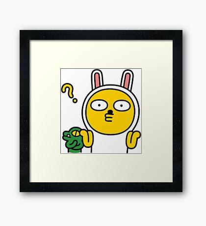 KakaoTalk Muzi and Con Character (Shrug) Framed Print