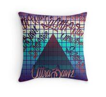 """Synthwave Graffiti, """"UltraBawz"""" Design (non-NEON Version) Throw Pillow"""