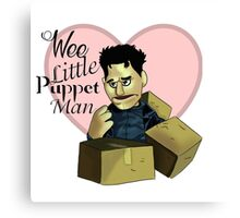 Wee little puppet man Canvas Print