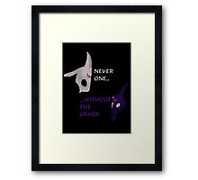 Kindred - Never one...without the other. Framed Print