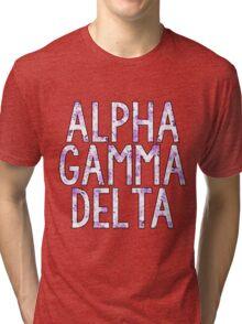 Alpha Gamma Delta Tri-blend T-Shirt