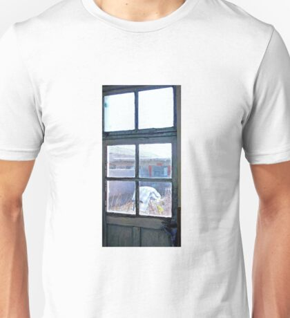 Looking Out the Kitchen Door in February  Unisex T-Shirt