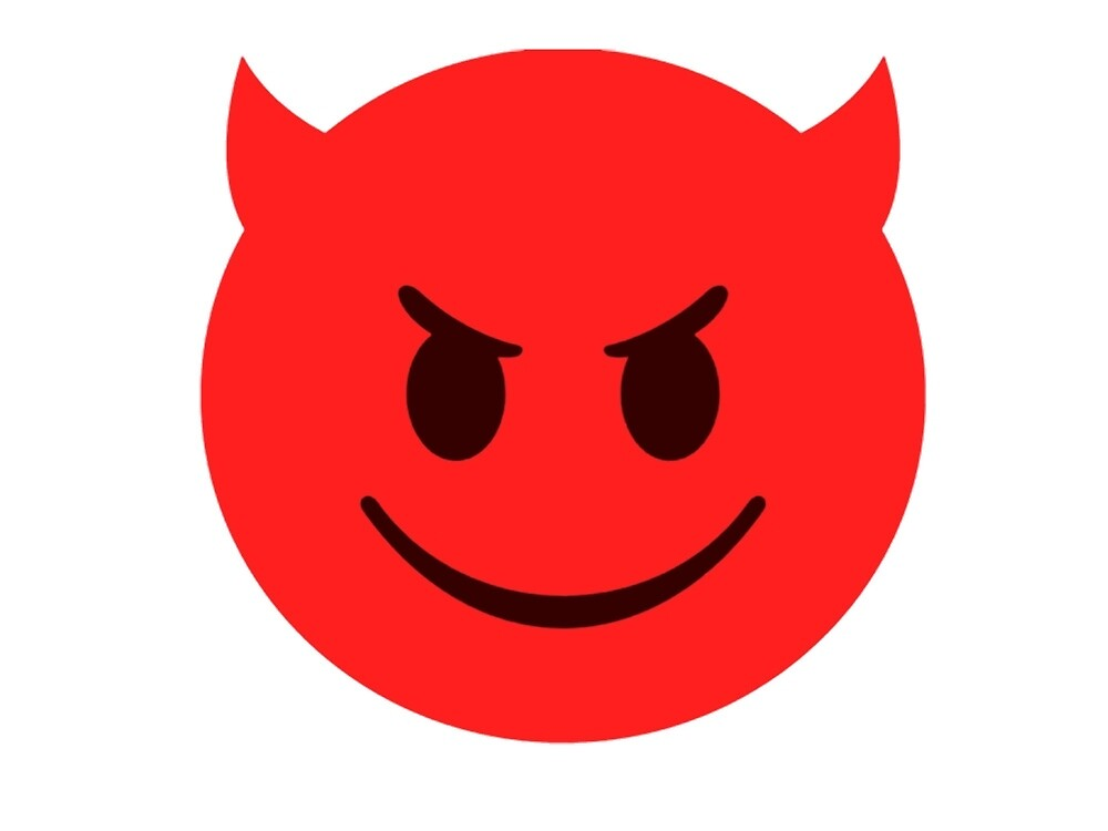 Quot Little Devil Emoji Quot By Akimbovii Redbubble
