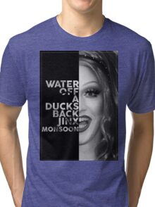 Jinx Monsoon Text Portrait Tri-blend T-Shirt