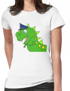 Dino Cop Womens Fitted T-Shirt