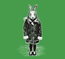Winter White Rabbit One Piece - Short Sleeve