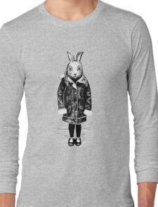 Winter White Rabbit Long Sleeve T-Shirt