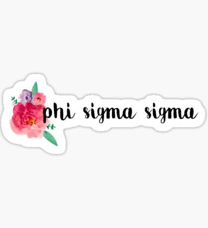 Flower Sigma Sigma Sticker