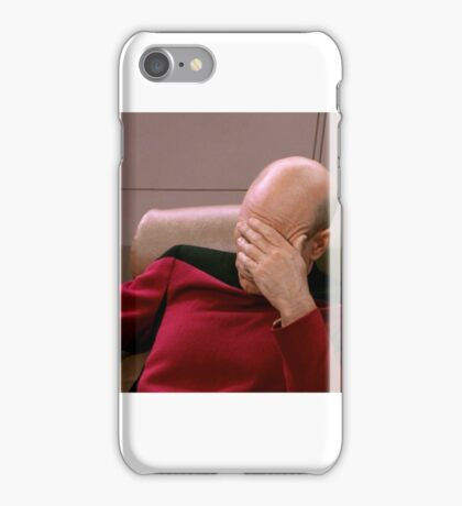 FacePalm Picard iPhone Case/Skin