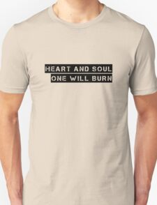 Heart And Soul Joy Division Ian Curtis Quote Music Unisex T-Shirt