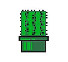pixel nerd geek gamer videogame 2d 8 bit cactus design games zocken Photographic Print