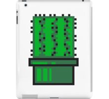 pixel nerd geek gamer videogame 2d 8 bit cactus design games zocken iPad Case/Skin