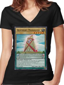 Qliphort Monolith Women's Fitted V-Neck T-Shirt