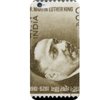 Martin Luther King - India Stamp iPhone Case/Skin