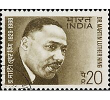 Martin Luther King - India Stamp Photographic Print