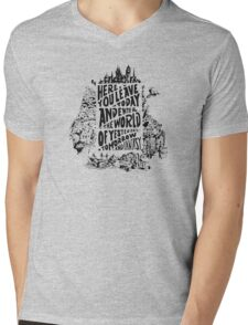 You'll Be In My Heart (On White) Mens V-Neck T-Shirt