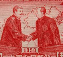 Mao Meets Stalin - Commemorative Stamp Sticker