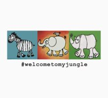 #welcometomyjungle -the herd Kids Tee