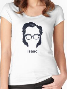 Isaac Asimov (Hirsute History) Women's Fitted Scoop T-Shirt