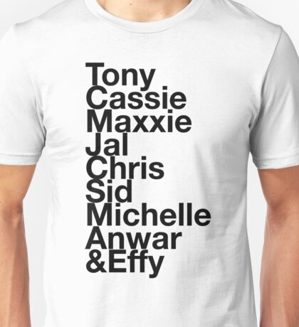 Skins UK TV Show Generation 1 Names Unisex T-Shirt