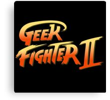 Geek fighter Canvas Print