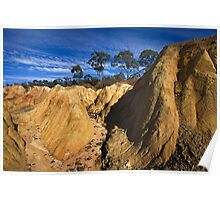 Pink Cliffs 3 - Heathcote Poster