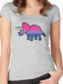 Biceratops (Bisexual Triceratops) Women's Fitted Scoop T-Shirt