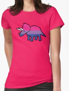 Biceratops (Bisexual Triceratops) Womens Fitted T-Shirt