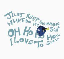Just keep swimming Kids Tee