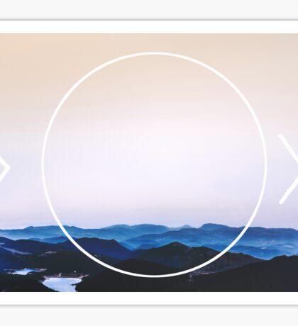 Mountains Beyond Sticker