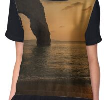 Sunset at Durdle Door Chiffon Top