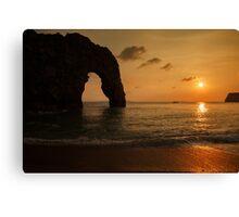 Sunset at Durdle Door Canvas Print