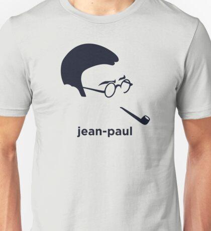 Jean Paul Sartre (Hirsute History) Unisex T-Shirt