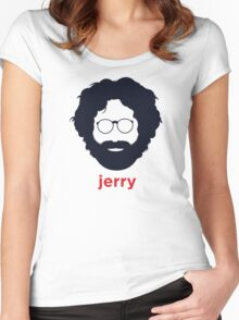Jerry Garcia (Hirsute History) Women's Fitted Scoop T-Shirt