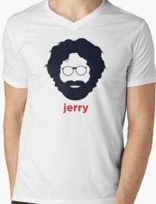Jerry Garcia (Hirsute History) Mens V-Neck T-Shirt