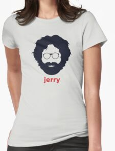 Jerry Garcia (Hirsute History) Womens Fitted T-Shirt