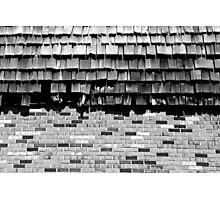 Strip Mall Textures 2 BW Photographic Print