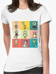 animal party Womens Fitted T-Shirt
