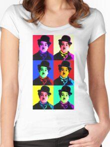 Chaplin meet pop PT.3 Women's Fitted Scoop T-Shirt