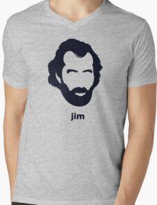 Jim Henson (Hirsute History) Mens V-Neck T-Shirt