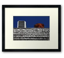 Strip Mall Roof Abstract Framed Print